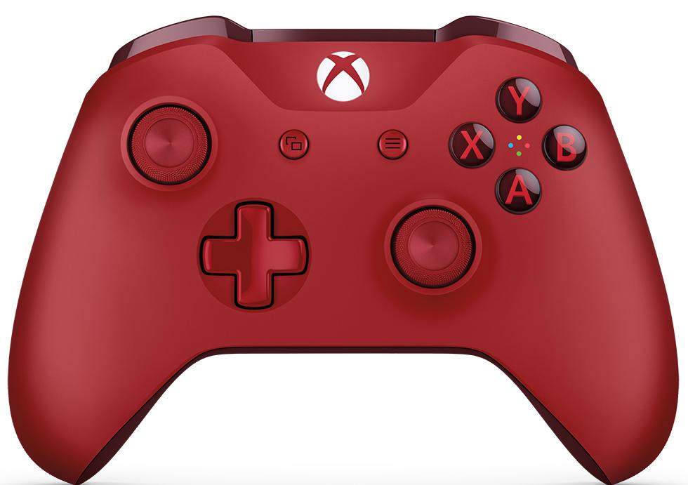 Xbox One беспроводной геймпад цвет красныйWL3-00028Ощутите невероятное удобство управления с беспроводным геймпадом Xbox One. Импульсные триггеры обеспечивают вибрационную обратную связь, так что вы почувствуете малейшую тряску и столкновения с высочайшей точностью. Отзывчивые мини-джойстики и усовершенствованная крестовина повышают точность. А к 3,5 - мм стереогнезду можно напрямую подключить любую совместимую гарнитуру.Почувствуйте игру благодаря импульсным триггерам. Вибрационные электродвигатели в триггерах обеспечивают прецизионную обратную связь, передавая отдачу оружия, столкновения и тряску для достижения невиданного реализма в играх!Теперь геймпад оснащен 3,5-мм стереогнездом, к которому можно напрямую подключить любимую игровую гарнитуру.Поддерживается беспроводное обновление прошивки, благодаря чему для обновления не требуется подключать геймпад с помощью кабеля USB.ТочностьКрестовина отлично реагирует как на касания, так и на нажатия навигационных кнопокМини-джойстики удобнее в использовании и точнее работаютТриггеры и бамперы ускоряют доступ к командамКомфортРазмер и контуры геймпада комфортны для рук любого игрокаБатареи скрыты в корпусе, благодаря чему геймпад удобнее лежит в рукеДругие особенностиКомплект поставки: беспроводной геймпад и 2 батареи типоразмера AAРадиус действия до 6 мК консоли можно одновременно подключить до 8 беспроводных геймпадовКнопки Меню и Просмотр облегчают навигациюПростая привязка профилей к геймпадуК новому встроенному стереогнезду для гарнитуры можно подключить дополнительные устройства, например гарнитуру для чатаГеймпад совместим с зарядным устройством для геймпада Xbox One, гарнитурой для чата Xbox One и стереогарнитурой Xbox One.