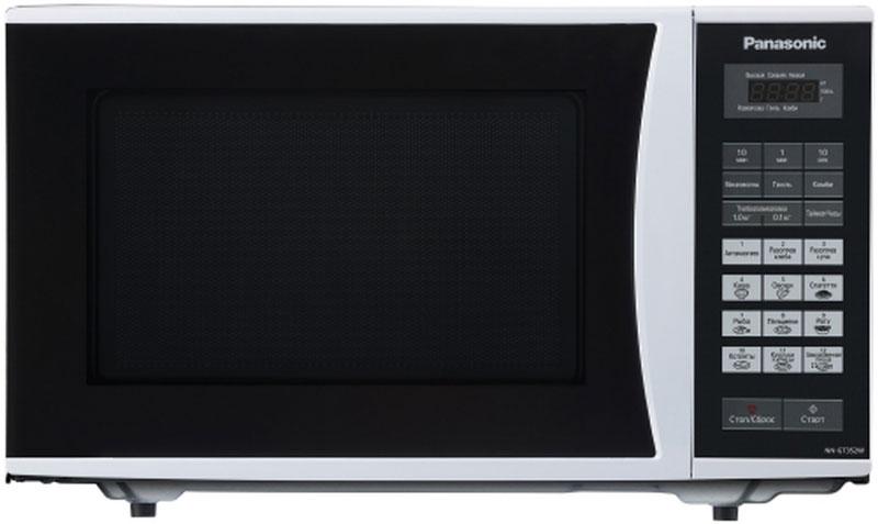 Panasonic NN-GT352WZTE микроволновая печьNN-GT352WZTEПростая и надежная в обращении новая микроволновая печь Panasonic NN-GT352WZTE с сенсорным управлением поможет вам сэкономить ваше драгоценное время. Она быстро разогреет любое блюдо или разморозит необходимый продукт. Экологически чистый материал корпуса и рабочей камеры - эмалированная сталь, гарантирует полезность ваших блюд, а белый цвет корпуса украсит любую кухню.Диаметр поддона: 28,5 см