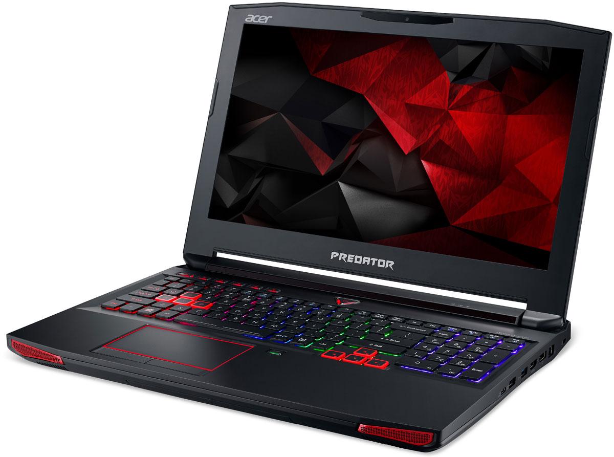 Acer New Predator G9-593-54LT, BlackG9-593-54LTРаскройте весь свой потенциал благодаря ноутбуку Acer New Predator G9-593-54LT с производительностью игрового настольного компьютера.Легко обжечься в пылу настоящей битвы. Сохраняйте хладнокровие благодаря усовершенствованной технологии охлаждения. Cooler Master поможет снизить температуру и повысить производительность. А решение Predator FrostCore пригодится вам во время жарких игровых баталий.Отсутствие задержек при подключении зачастую решает исход сетевых поединков. Управляйте подключением к интернету с помощью технологии Killer DoubleShot Pro.Благодаря программе PredatorSense в вашем распоряжении окажутся расширенные настройки для создания уникальной игровой атмосферы.Predator Dust Defender помогает содержать железо в чистоте и порядке. Изменение направления воздушного потока защитит от скопления пыли и гарантирует бесперебойную работу важных компонентов.PredatorSense предоставляет доступ к таким игровым функциям, как профили макросов клавиатуры, позволяющие переключаться между игровой конфигурацией и регулировать подсветку.Клавиатура Predator ProZone RGB имеет настраиваемые области подсветки, для которых можно выбрать любые из 16 миллионов доступных цветов, и программируемые макропрофили, которыми можно обмениваться с другими пользователями. Дополнительная цифровая клавиатура и специальные кнопки для макросов обеспечивают необходимый контроль.Предметом гордости Predator является звуковая система SoundPound 2.1 с 2 динамиками и сабвуфером и технологией Dolby AudioTM для глубокого звучания.Точные характеристики зависят от модели.Ноутбук сертифицирован EAC и имеет русифицированную клавиатуру и Руководство пользователя.