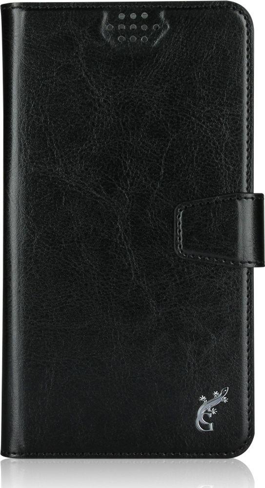 G-Case Slim Premium универсальный чехол для смартфонов 5-5,5, BlackGG-779Стильный универсальный чехол-книжка G-Case Slim Premium подходит для смартфонов с диагональю от 5 до 5,5 дюймов. Выполнен из высококачественных материалов и служит для защиты корпуса и экрана от царапин, пыли и падений. Чехол надежно фиксирует устройство. Имеет свободный доступ ко всем разъемам и камере устройства.