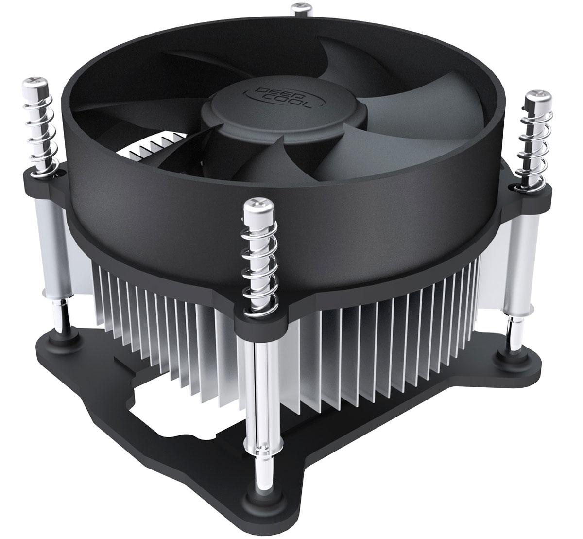 Deepcool CK-11508 кулер компьютерныйCK-11508Кулер для процессора Deepcool CK-11508 совместим с сокетами Intel S1150, S1155 и S1156. Скорость вращения вентилятора составляет 2200 оборотов в минуту при уровне шума в 26.3 дБ. Радиатор кулера выполнен из алюминия.Качественный радиатор с вентилятором диаметром 92 мм для более эффективного рассеивания тепла.Винтовое крепление и задняя планка для обеспечения большей безопасности системы.