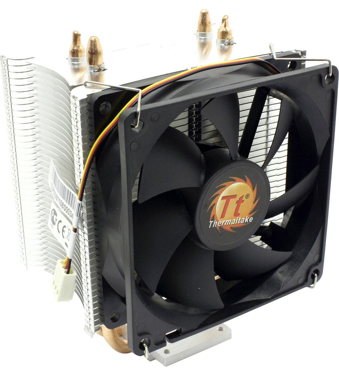 Thermaltake Contac 16 кулер компьютерныйCLP0598Кулер Thermaltake Contac 16 обеспечивает великолепную производительность, благодаря технологии прямого контакта.Две теплотрубки диаметром 6 мм обеспечивают хороший контакт с CPU и улучшают теплопередачу.Высококачественная термопаста обеспечивает высокую теплопередачу между поверхностью CPU и основанием кулера.Предустановленный 92 мм высокоэффективный вентиляторДополнительно прилагаются две крепежные клипсы для второго вентилятора