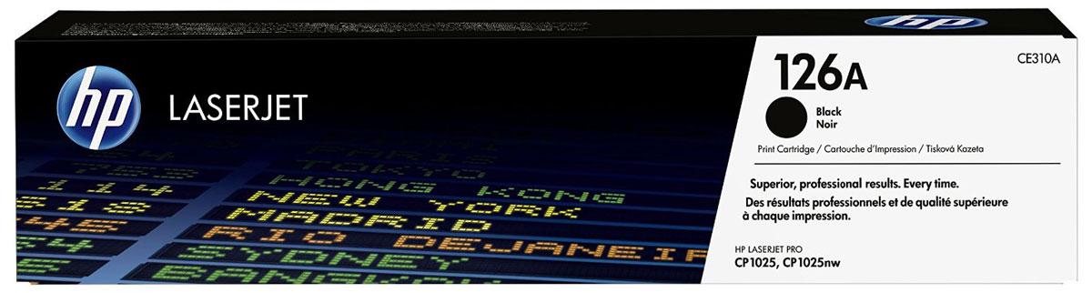 HP CE310A (126A), Black тонер-картридж для LaserJet Pro M275/CP1025/M175CE310AТонер-картридж HP CE310A (126A) позволяет печатать текстовые документы и маркетинговые материалы. Обеспечивает фотографическое качество графики и изображений. Неизменно профессиональный результат на широком ассортименте бумаги для лазерной печати.Высокая производительность и высококачественные результаты независимо от условий эксплуатации. Используя картриджи, специально разработанные для вашего принтера, вы сможете избежать необходимости повторной печати и дорогостоящих простоев, а также снизить количество отработанных расходных материалов.
