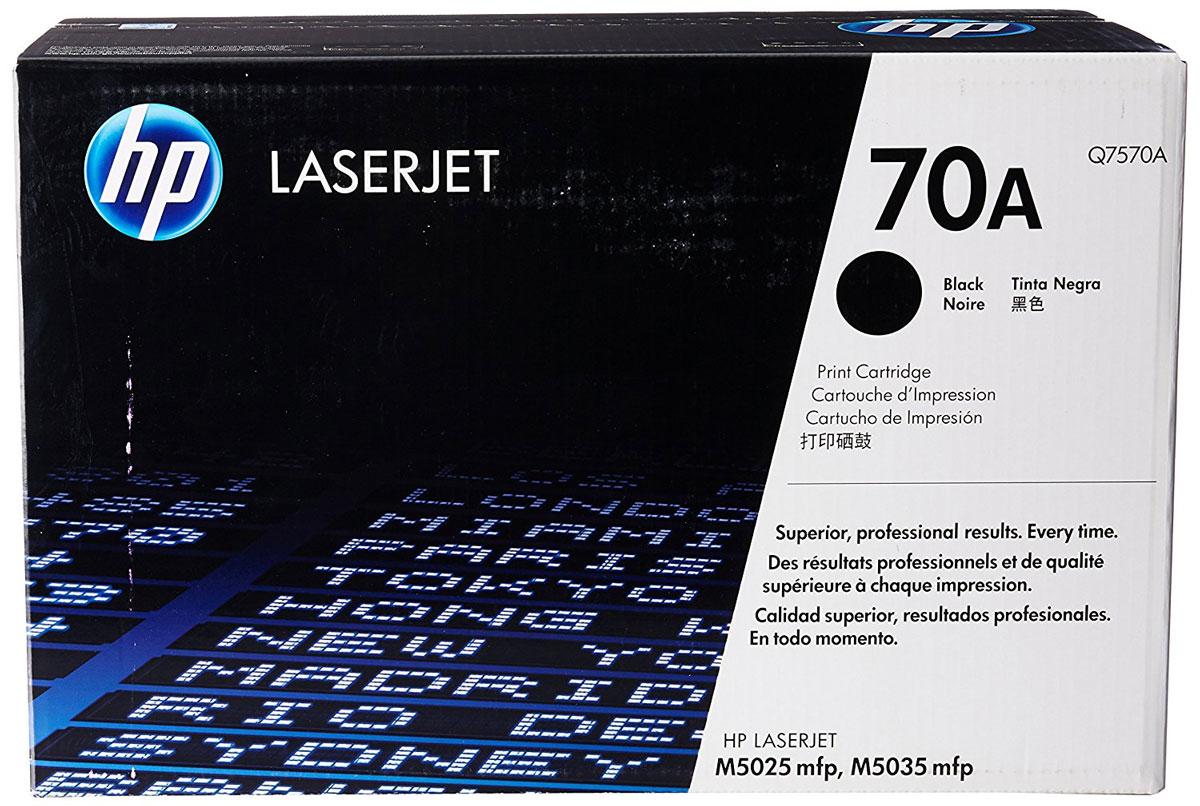 HP Q7570A (70A), Black тонер-картридж для LaserJet M5025/M5035Q7570AКартриджам почти не требуется обслуживание, благодаря чему повышается производительность принтеров. Оригинальные лазерные картриджи HP Q7570A (70A) позволяют сэкономить время и снизить затраты на расходные материалы.Оригинальные лазерные картриджи HP LaserJet — гарантия стабильного качества печати. За счет уменьшения количества простоев экономится время и сокращаются совокупные затраты на печать.В комплекте с лазерным картриджем HP LaserJet поставляются тонер и барабан. Технология HP Smart отправляет оповещения при низком уровне расходных материалов и помогает снизить количество простоев до минимума.Качество и надежность печати на 70% зависят именно от картриджа, поэтому лучший картридж — этот тот, который разработан специально для вашего принтера. Оригинальный картридж HP LaserJet и тонер HP.