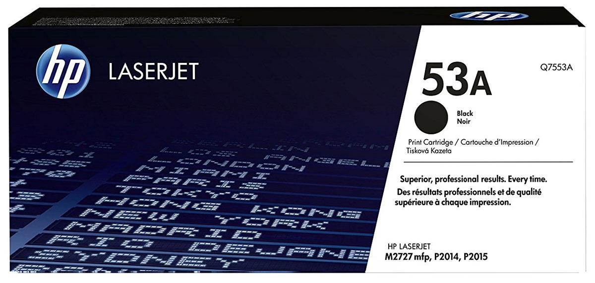 HP Q7553A (53A), Black тонер-картридж для LaserJet M2727/P2015Q7553AТонер-картридж HP Q7553A (53A) обеспечивает стабильно высокое качество и производительность.Оригинальные картриджи HP LaserJet обеспечивают высочайшую скорость печати и превосходное качество.