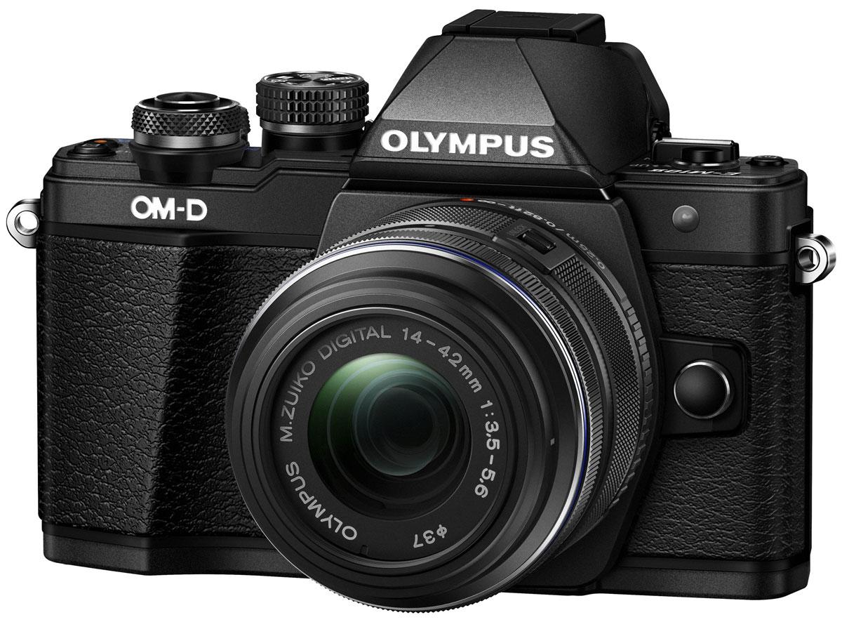 Olympus OM-D E-M10 Mark II Kit 14-42 II R, Black цифровая фотокамераV207051BE000Olympus OM-D E-M10 Mark II – компактная, легкая и эргономичная камера, которая способна удовлетворить все ваши потребности, куда бы вы ни отправились. Несмотря на цельнометаллический корпус E-M10 Mark II весит всего 390 г, так что она никогда не станет вам помехой. Великолепный классический дизайн и самые передовые технологии для получения отличных снимков.Идеальное качество снимков в условиях плохого освещения и в движении. Ваши снимки будут ясными и четкими в любой ситуации благодаря примененной в E-M10 Mark II мощной технологии 5-осевой стабилизации изображения (IS). Где бы вы ни оказались вы всегда получите великолепные, качественные, четкие снимки. 5-осевой стабилизатор изображения встроен в корпус для более эффективной работы и уменьшения веса камеры.С E-M10 Mark II публиковать фотографии стало просто как никогда. Передайте фотографии на свой смартфон с помощью приложения OLYMPUS Image Share (OI.Share) и легко поделитесь ими со своими друзьями и семьей. С помощью встроенного Wi-Fi модуля вы можете удаленно управлять широким рядом настроек камеры, например, при съемке со штатива, когда без удаленного спуска затвора не обойтись, или когда у вас нет возможности дотянуться до камеры, или при съемке в экстремальных условиях.Широкий ряд высококачественных объективов с отличными оптическими элементами отлично дополнит как внешний вид, так и технические возможности вашей камеры E-M10 Mark II. Используйте любые типы объективов от макро и телеобъективов до широкоугольных объективов и объективов типа рыбий глаз.Фотоаппарат награждён престижной премией Продукт года. Он гарантирует высочайшее качество снимков, скорость фокусировки E-M5 и мощность флагмана E-M1, причем эти уникальные возможности заключены в компактном и элегантном металлическом корпусе.Тип сенсора: 4/3 МОП (MOS) - сенсор реального изображенияФормат изображения: 4:3 / 3:2 / 16:9 / 6:6 / 3:4Процессор: TruePic VIIЗащита от пыли: Ул