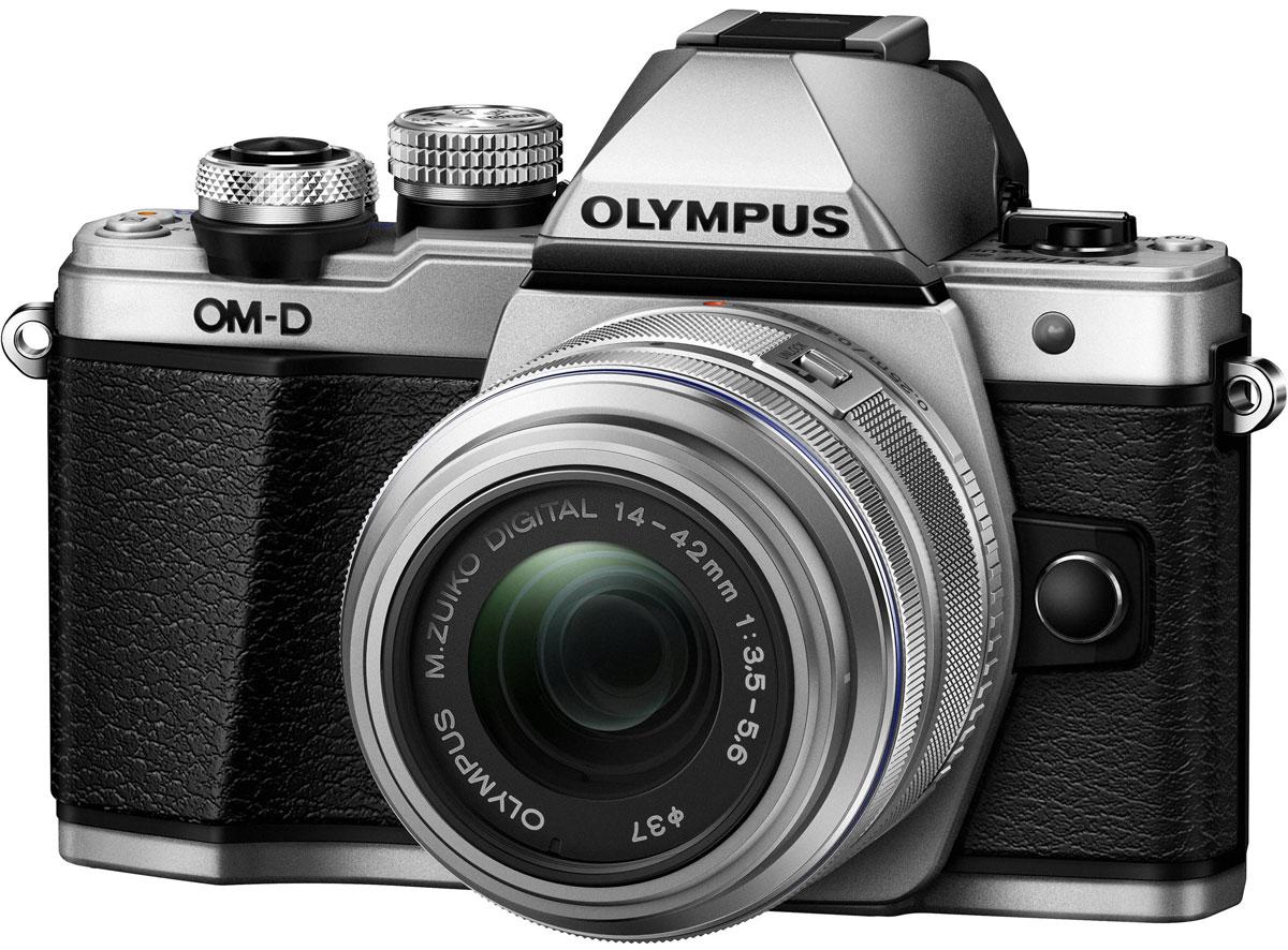 Olympus OM-D E-M10 Mark II Kit 14-42 II R, Silver цифровая фотокамераV207051SE000Olympus OM-D E-M10 Mark II - компактная, легкая и эргономичная камера, которая способна удовлетворить все ваши потребности, куда бы вы ни отправились. Несмотря на цельнометаллический корпус E-M10 Mark II весит всего 390 г, так что она никогда не станет вам помехой. Великолепный классический дизайн и самые передовые технологии для получения отличных снимков.Идеальное качество снимков в условиях плохого освещения и в движении. Ваши снимки будут ясными и четкими в любой ситуации благодаря примененной в E-M10 Mark II мощной технологии 5-осевой стабилизации изображения (IS). Где бы вы ни оказались вы всегда получите великолепные, качественные, четкие снимки. 5-осевой стабилизатор изображения встроен в корпус для более эффективной работы и уменьшения веса камеры.С E-M10 Mark II публиковать фотографии стало просто как никогда. Передайте фотографии на свой смартфон с помощью приложения OLYMPUS Image Share (OI.Share) и легко поделитесь ими со своими друзьями и семьей. С помощью встроенного Wi-Fi модуля вы можете удаленно управлять широким рядом настроек камеры, например, при съемке со штатива, когда без удаленного спуска затвора не обойтись, или когда у вас нет возможности дотянуться до камеры, или при съемке в экстремальных условиях.Широкий ряд высококачественных объективов с отличными оптическими элементами отлично дополнит как внешний вид, так и технические возможности вашей камеры E-M10 Mark II. Используйте любые типы объективов от макро и телеобъективов до широкоугольных объективов и объективов типа рыбий глаз.Фотоаппарат награждён престижной премией Продукт года. Он гарантирует высочайшее качество снимков, скорость фокусировки E-M5 и мощность флагмана E-M1, причем эти уникальные возможности заключены в компактном и элегантном металлическом корпусе.Тип сенсора: 4/3 МОП (MOS) - сенсор реального изображенияФормат изображения: 4:3 / 3:2 / 16:9 / 6:6 / 3:4Процессор: TruePic VIIЗащита от пыли: У
