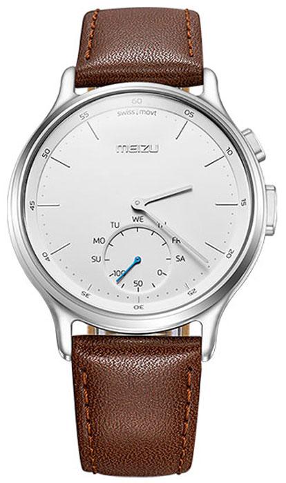Meizu Mix Leather, Silver Brown смарт-часыMZWA1S-L-SLЛёгкие умные часы с кварцевым механизмом Meizu Mix и ремешком из крупно-зернистой итальянской кожи.Корпус, циферблат и стрелки умных кварцевых часов Meizu Mix изготовлены из ювелирной стали. Она устойчива к коррозии, высоким температурам и износу. Прекрасная комбинация надёжных материалов и утончённого дизайна.Элегантное сапфировое стекло. Твёрдость сапфирового стекла равна 9 и уступает лишь алмазу. Такое стекло выдерживает царапины, удары и высокие температуры. Вы не будете разочарованы.В умных часах Meizu Mix установлен швейцарский часовой механизм, известный благодаря своей долгой истории и мастерству изготовления. В часах сочетаются функциональность умных часов и продолжительный срок службы с традиционной точностью и надёжностью.Легкие умные часы Meizu плотно сидят на запястье. Теперь вы больше не пропустите входящий звонок, SMS или сообщение в мессенджере. В часах возможно настроить будильник и напоминания.Высокоточный сенсор отслеживает ваши передвижения и подсчитывает потраченное количество калорий и показывает ежедневную физическую активность. Если вы переключились на малый циферблат, с помощью секундной стрелки вы можете выбрать информацию для отображения, например, физическая активность за неделю. Переключаться между режимами очень просто.Не можете найти свой телефон? Нажав на кнопку на часах, вы можете включить проигрывание рингтона на смартфоне.В часах Meizu Mix установлена батарея способная работать до 240 дней, поэтому вам больше не будут надоедать ежедневные зарядки аккумулятора. Часы выдерживают погружение в воду на глубину до 30 метров, но брать их с собой в сауну не разрешается.