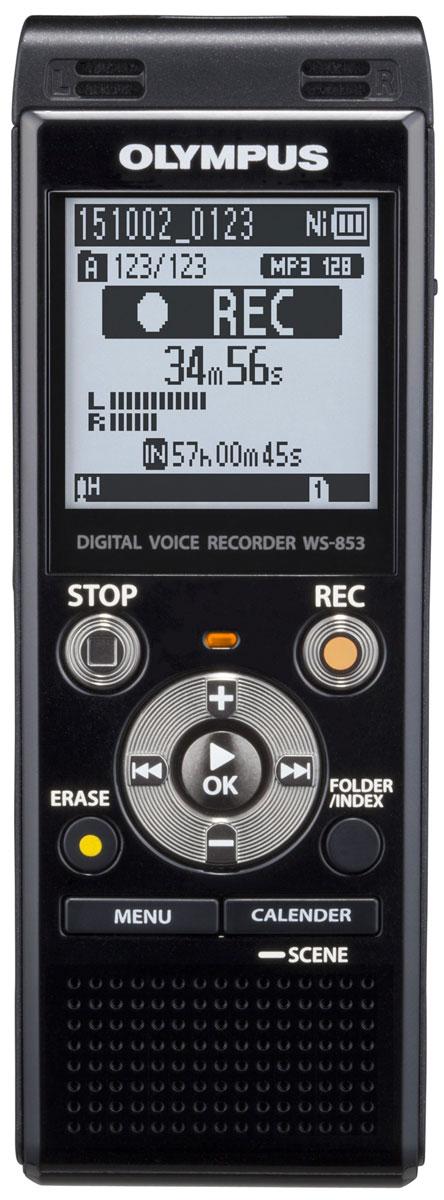 Olympus WS-853, Black диктофонV415131BE000Независимо от ваших потребностей, в формальной или неформальной обстановке, диктофон Olympus WS-853 сочетает в себе высокую производительность, стерео запись со смарт-функциональностью. Это не только делает его приятным, но и простым в использовании в любой ситуации.Стерео микрофон с шумоподавлением и радиусом охвата 90° позволит вам запечатлеть мельчайшие детали встречи. Независимо от того, где находится спикер и в каком направлении расположен микрофон.Для того, чтобы сделать прослушивание записей более комфортным, режим Intelligent Auto Mode автоматически настраивает уровень звука от разных источников, делая их максимально близкими по громкости. Когда спикер говорит очень громко, диктофон уменьшает уровень входного сигнала, а для мягких голосов рекордер увеличивает уровень входного сигнала - всегда обеспечивая один уровень громкости.С двумя различными режимами отображения, вы можете использовать диктофон, даже если вы новичок. Простой режим отображает только основную информацию крупным шрифтом и ограничивает варианты меню для часто используемых функций. Для продвинутых пользователей, полная функциональность пунктов меню доступно в обычном режиме.Сохранять данные легко и удобно с помощью встроенного USB-разъема. Вставьте USB в ПК или Mac и передайте голосовую запись с устройства на жесткий диск компьютера. Вы также можете использовать его, как запоминающее устройство USB для обмена документами.Максимальный объем арты памяти: 32 ГБЗапись индексов: до 99 в файлЧастота дискретизации MP3: 44,1 кГц, 8- 128 Кбит/сПрограммы записи: Собрания, Конференция, Диктовка, Распознавание речи, Запись телефонных разговоров, ДубликатИнформация о времени и датеЗаписей в каталоге: 200Поиск по календарюБлокировка файлаМаксимальная мощность на выходе: 250 мВт