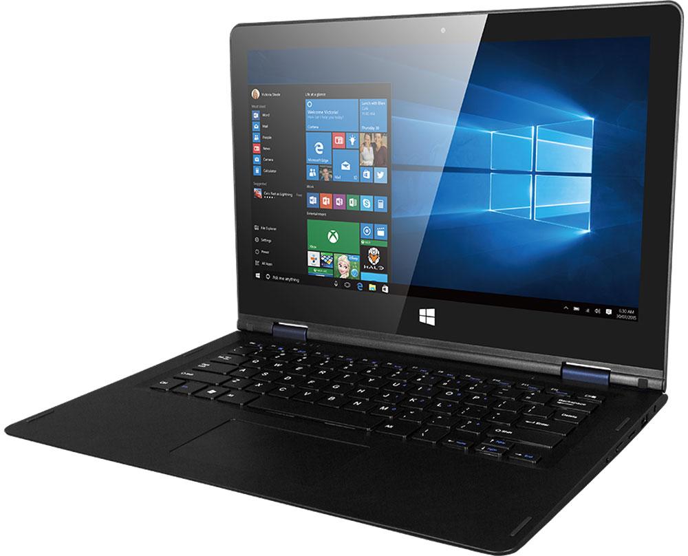 Prestigio Visconte Ecliptica, Dark BluePNT10130CEDBВыделяйтесь вместе с ноутбуком-трансформером Prestigio Visconte Ecliptica! Необычная конструкция (поворотный механизм на 360 градусов), высококачественный 13,3-дюймовый IPS-дисплей с разрешением матрицы Full НD и сенсорной панелью, высокая производительность и длительность работы от одного заряда делают из этого устройства поистине особенный девайс, который не только подарит великолепный пользовательский опыт, но и станет впечатляющим аксессуаром.С Prestigio Visconte Ecliptica вы приобретаете 2 устройства по цене одного. Наслаждайтесь играми, просмотром контента и серфингом в Интернете в удобном форм-факторе планшета. А если вам нужно поработать - просто подключите клавиатуру! Дисплей вращается на 360 градусов, при этом он крепкий и надежный - вы не будете переживать о целостности устройства.С любыми ежедневными задачами (от поиска информации в Интернете до любимых игр) устройство справляется на ура. Плавность работы даже в требовательных приложениях обеспечивает мощная аппаратная составляющая: Intel Atom Cherry Trail x5-Z8300 с тактовой частотой в 1,44 ГГц и 2 ГБ оперативной памяти.Prestigio предустановили на ноутбук самую современную и популярную операционную систему Windows 10 версии Home. Она сделает работу с ноутбуком более эффективной благодаря грамотной оптимизации. Интуитивно-понятный интерфейс поможет выполнять любые задачи проще, а наивысшая степень защиты среди всех систем семейства Windows позволит не переживать насчет сохранности данных. Приятным бонусом станет 30-дневный доступ к полной версии Office 365.Новинка отлично подойдет для тех, кто проводит много времени за ноутбуком. Время автономной работы - неоспоримое преимущество Prestigio Visconte Ecliptica: до 6,5 часов в режиме интернет-серфинга и до 7,5 часов при просмотре мультимедийного контента благодаря аккумулятору емкостью 10000 мАч.Разработчики модели позаботились о том, чтобы вы могли брать ноутбук с собой, куда бы ни направлялись. Вес всего 