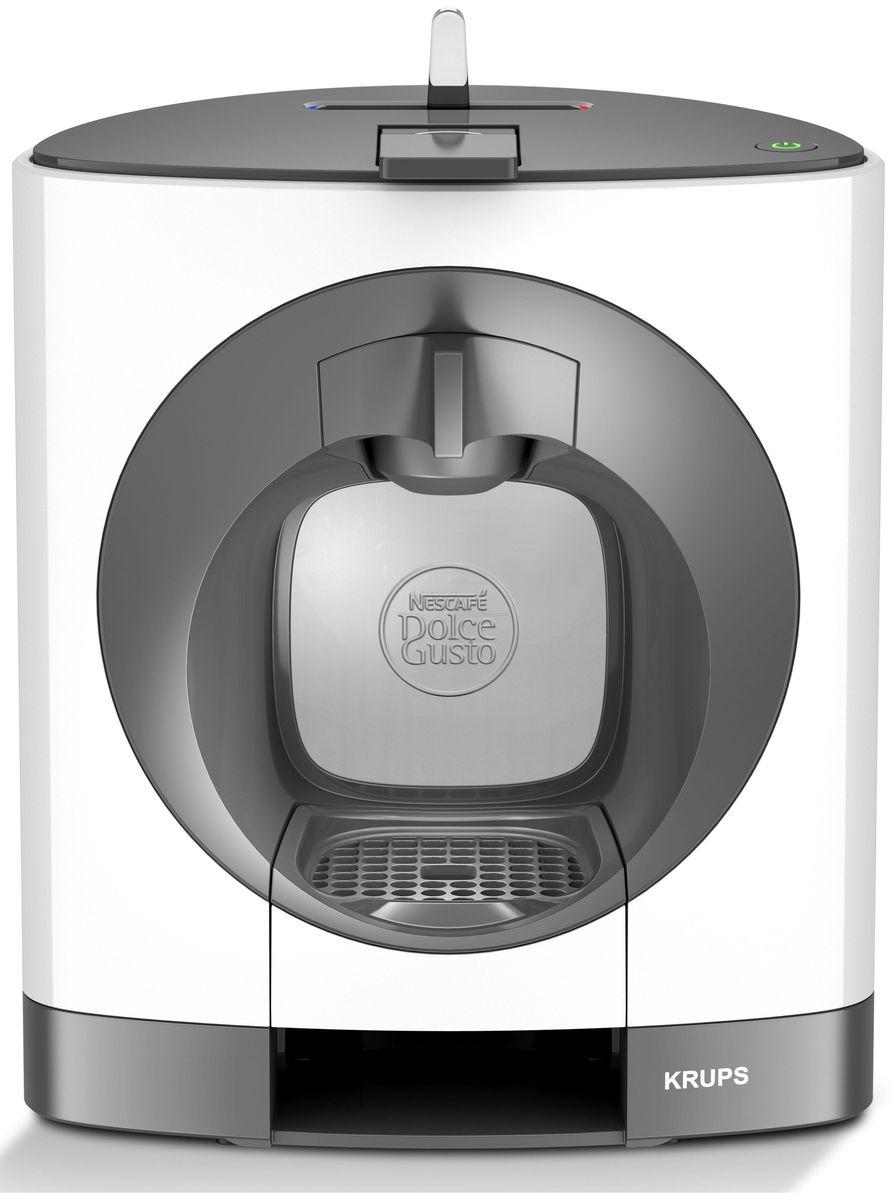 Krups KP110110 капсульная кофемашинаKP110110Стильная капсульная кофемашина Krups KP110110 идеально дополнит интерьер вашей кухни.Просто поместите выбранную капсулу в кофемашину, слегка нажмите на рычаг – и через несколько мгновений ваш напиток готов!Герметично запечатанные капсулы помогут сохранить первозданную свежесть прекрасного кофе, богатым ароматом которого вы будете наслаждаться каждый день.Насладитесь более чем 20 видами любимого кофе премиум-класса – крепким эспрессо, насыщенным гранде и пенистым капучино, а также горячим шоколадом и другими напитками.Удобная функция режима экономии автоматически выключает кофемашину через 5 минут. Класс энергопотребления аппарата: А.