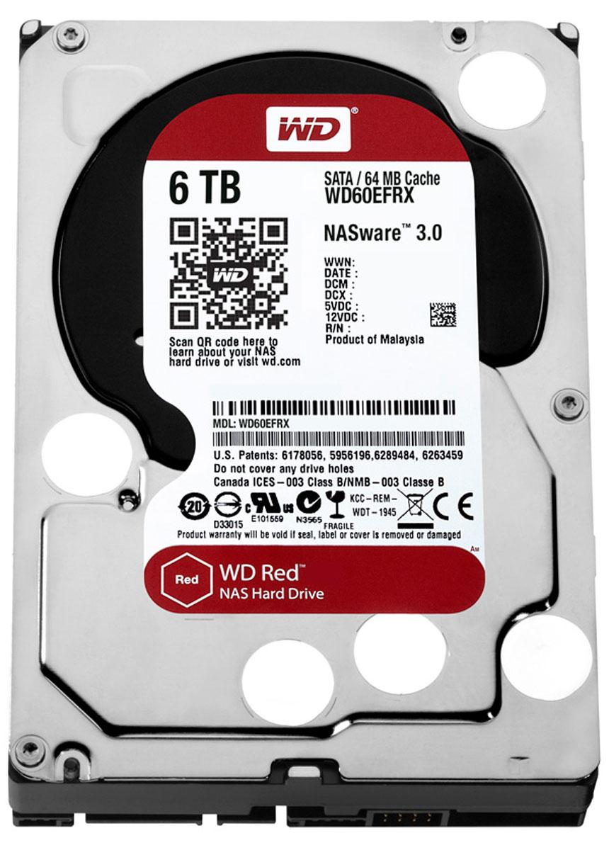 WD Red 6TB внутренний жесткий диск (WD60EFRX)WD60EFRXЧтобы быстро и удобно транслировать медиафайлы, создавать резервные копии данных, хранящихся на ПК, обмениваться файлами и работать с цифровыми материалами, установите в сетевом устройстве хранения накопители WD Red. Удобная интеграция, надежная защита данных и оптимальное быстродействие для систем NAS с высокими требованиями.Транслируйте цифровые материалы, выполняйте их резервное копирование, систематизируйте их и отправляйте на телевизор, ПК и другие устройства. Технология NASware повышает совместимость ваших накопителей с системами NAS, обеспечивая тем более высокое качество воспроизведения цифровых материалов на устройствах.В основе процветания любого бизнеса лежат производительность и эффективность. И именно этими двумя принципами WD руководствовались, разрабатывая накопители Red. Благодаря накопителю WD Red в системах NAS вы сможете предоставлять общий доступ к файлам и выполнять их резервное копирование с той же скоростью, с какой работает ваша компания.Доступная для загрузки бесплатная программа Acronis True Image WD Edition позволяет клонировать диски, а также создавать резервные копии операционной системы, приложений, настроек и всех данных.