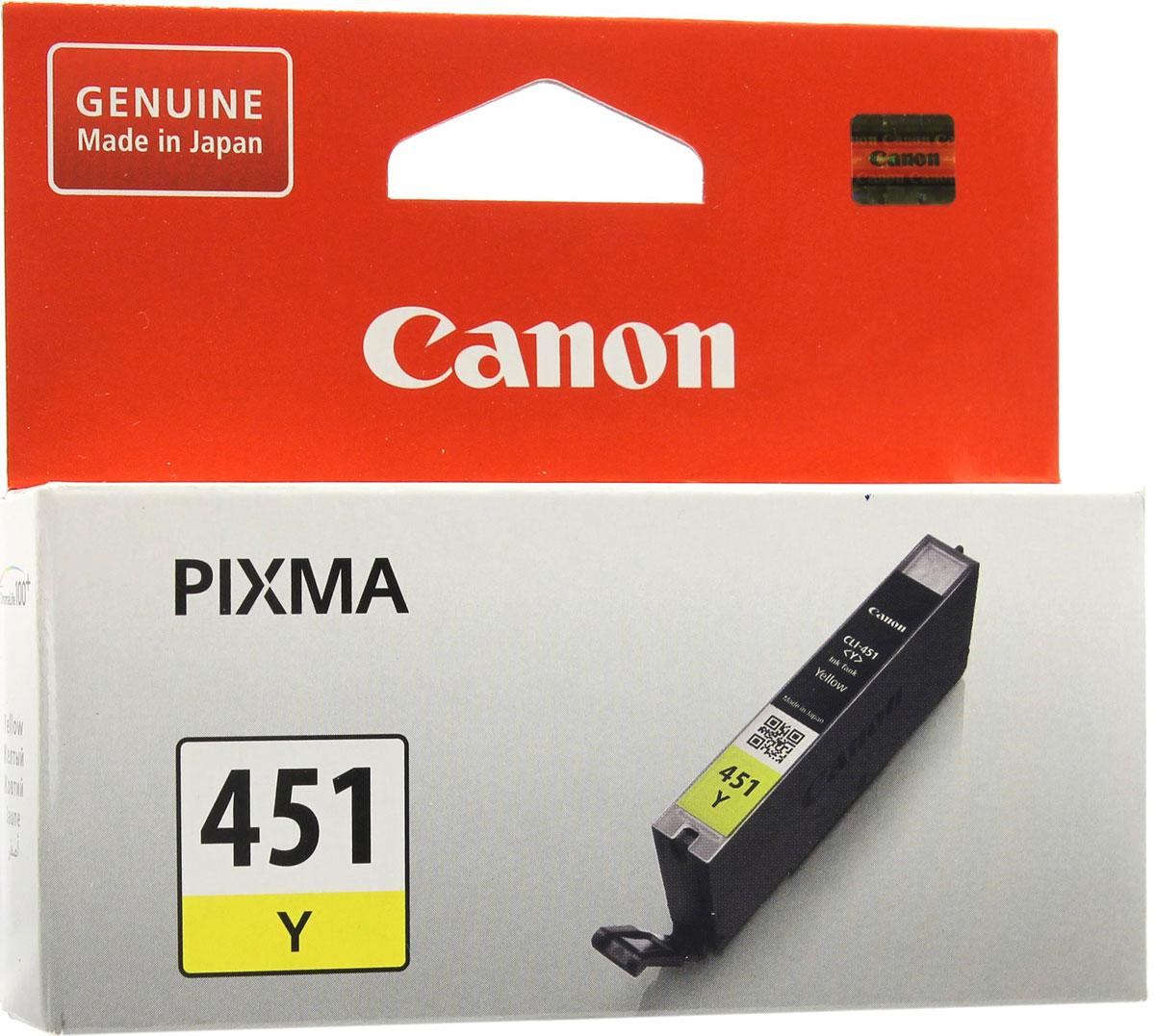 Canon CLI-451, Yellow картридж для PIXMA MG6340/MG5440/IP72406526B001Оригинальный картридж Canon CLI-451 с оригинальными чернилами гарантирует профессиональный вид печатаемых документов и высокую производительность. Надежная печать без проблем. Точная цветопередача и быстрое высыхание. Для получения красивых и долговечных отпечатков сделайте выбор в пользу чернил Canon.