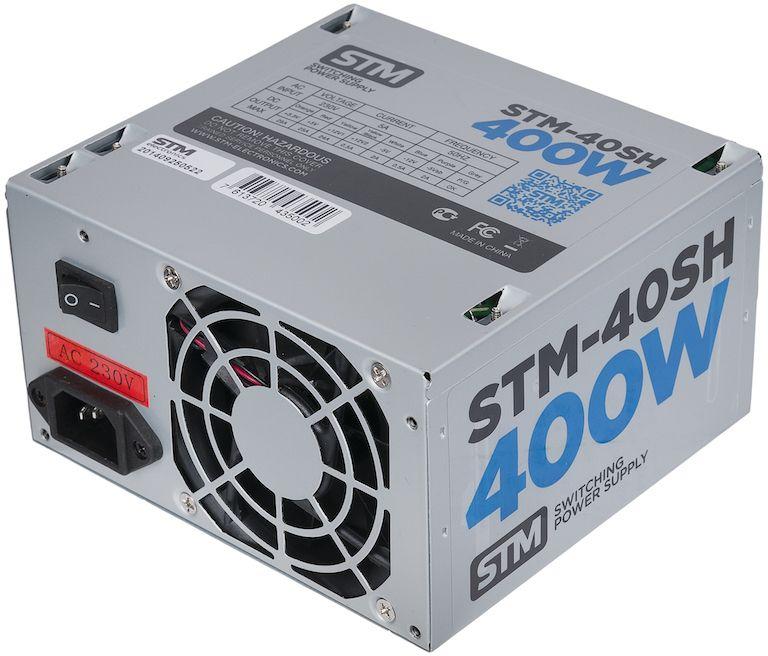 STM 40SH блок питания для компьютера1000192610STM 40SH - это эффективный, надёжный и недорогой блок питания. Для комфортной работы укомплектован 80 миллиметровым тихим вентилятором. STM 40SH станет хорошим вариантом для установки в домашнем или корпоративном ПК.