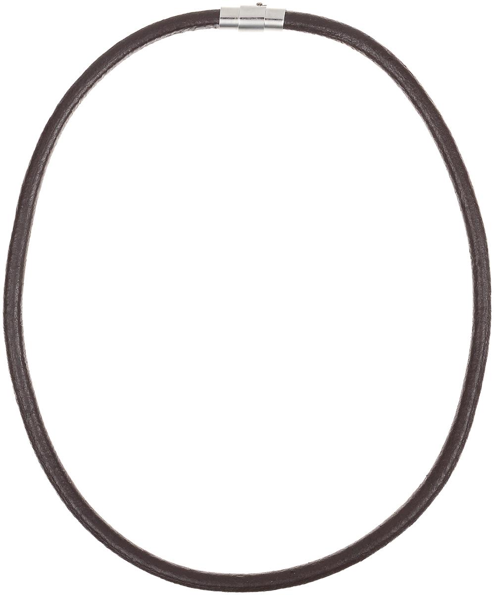 Ожерелье Art-Silver, цвет: коричневый. КЖ292кр-203Колье (короткие одноярусные бусы)Ожерелье современного дизайна Art-Silver изготовлено из бижутерийного сплава и искусственной кожи. В комплекте с украшением поставляется мешочек для хранения.