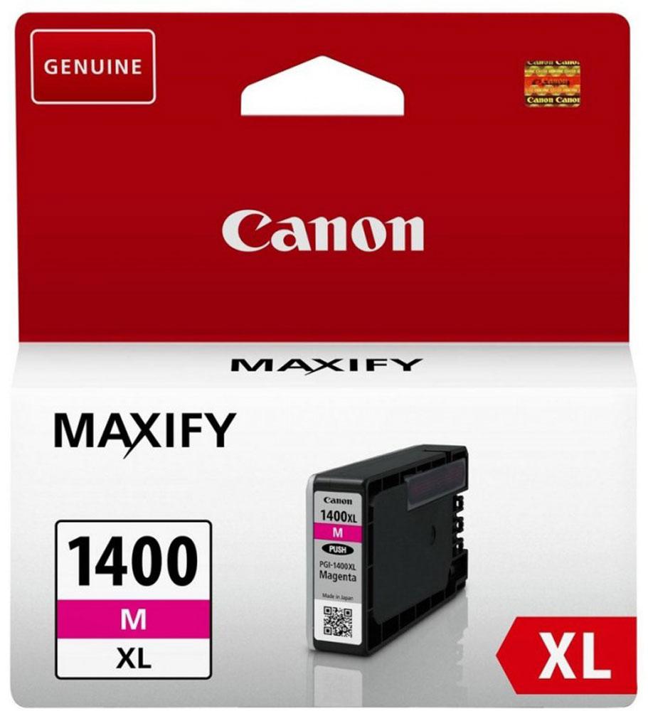 Canon PGI-1400XL, Magenta картридж для Maxify МВ2040/МВ23409203B001Оригинальный картридж Canon PGI-1400XL с оригинальными чернилами гарантирует профессиональный вид печатаемых документов и высокую производительность. Надежная печать без проблем. Точная цветопередача и быстрое высыхание. Для получения красивых и долговечных отпечатков сделайте выбор в пользу чернил Canon.