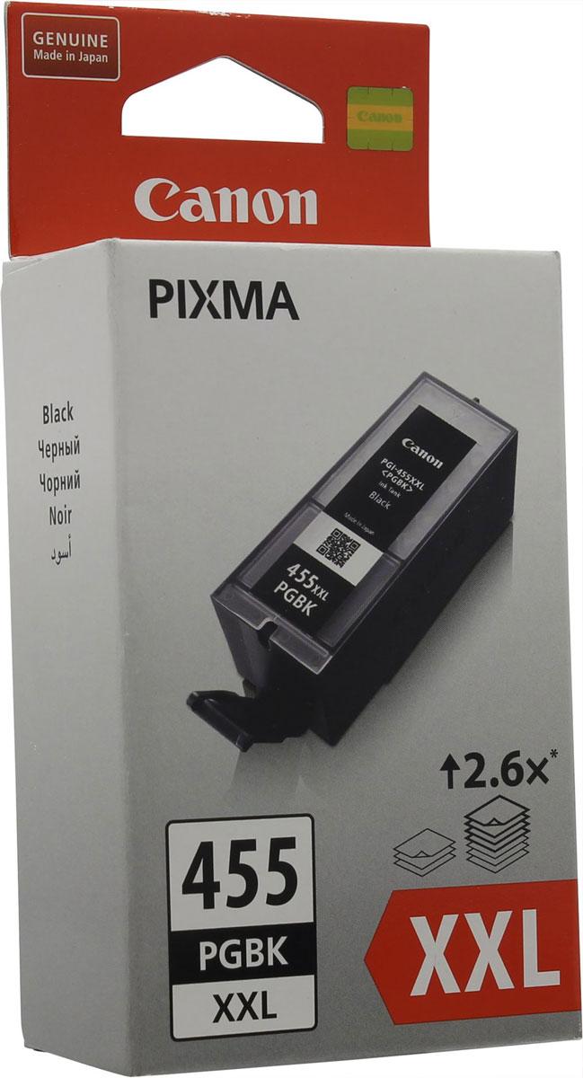 Canon PGI-455XXL, Black картридж для PIXMA MX724/MX9248052B001Оригинальный картридж Canon PGI-455XXL с оригинальными чернилами гарантирует профессиональный вид печатаемых документов и высокую производительность. Надежная печать без проблем. Точная цветопередача и быстрое высыхание. Для получения красивых и долговечных отпечатков сделайте выбор в пользу чернил Canon.
