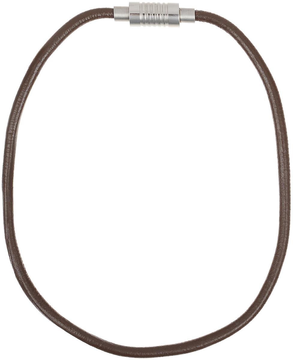 Ожерелье Art-Silver, цвет: коричневый. QD61-378Колье (короткие одноярусные бусы)Ожерелье современного дизайна Art-Silver изготовлено из бижутерийного сплава и искусственной кожи. В комплекте с украшением поставляется мешочек для хранения.