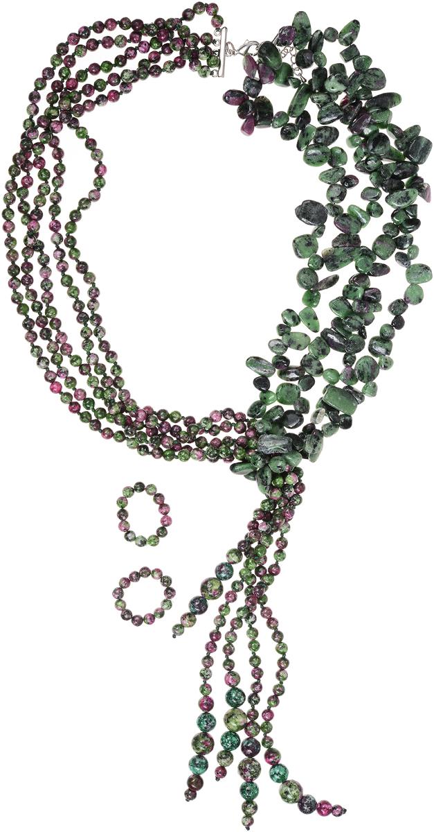 Бусы Art-Silver, цвет: зеленый. СМЦ5-2-2250Колье (короткие одноярусные бусы)Бусы Art-Silver выполнены из бижутерного сплава и камня халцедона, оснащены удобным замком-карабином.