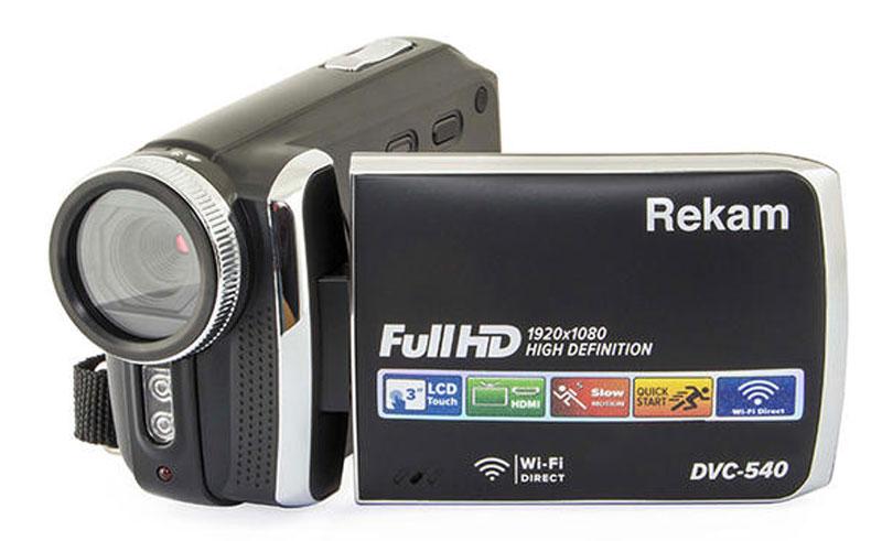 Rekam DVC-540, Black цифровая видеокамера цифровая фоторамка rekam visavis l 137