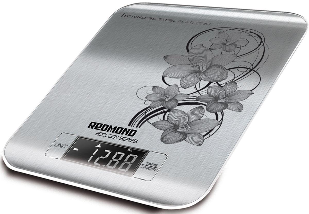 Redmond RS-M737 кухонные весыRS-M737Кухонные весы Redmond RS-M737 - новая стильная модель с изящным рисунком на платформе из нержавеющей стали, предназначенная для взвешивания продуктов весом до 5 килограммов в бытовых условиях.Кухонные весы RS-M737 предложат на выбор четыре популярные единицы измерения. Большой и чёткий ЖК-дисплей поможет сразу увидеть показания прибора. Преимуществами аппарата являются такие функции, как вычет веса тары, автоотключение, индикация перегрузки и низкого заряда батареи.Redmond RS-M737 легко и быстро определяют вес любого ингредиента блюда. Эти кухонные весы станут главным помощником приверженцев правильного питания, спортсменов и поклонников здорового образа жизни. Вы сразу почувствуете благоприятный эффект от использования этого электронного механизма!
