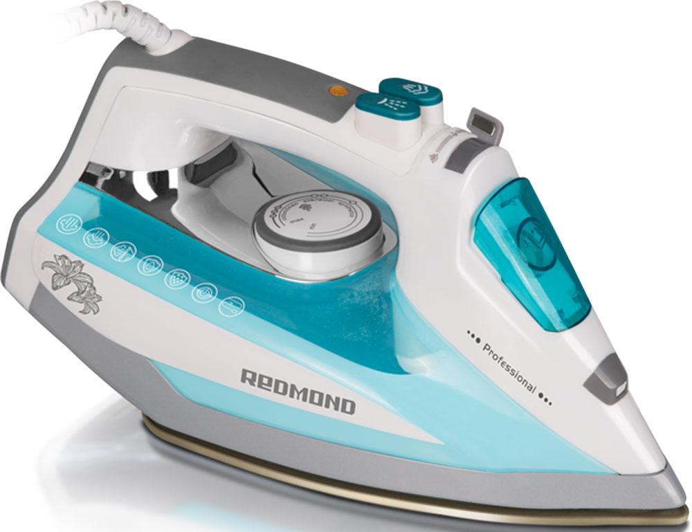 Redmond RI-D235, Light Blue утюгRI-D235 (голубой)Утюг Redmond RI-D235 — новая классическая модель с простым и надёжным механизмом управления, обладающая обширным набором функций и технических возможностей. Данный прибор идеально подойдёт для любого дома!Утюг RI-D235 имеет подошву с современным антипригарным покрытием Duralon, которое гарантирует лёгкое и приятное скольжение устройства по ткани и равномерное распределение пара по всей поверхности. В данной модели реализована автоматическая система Капля-стоп, предотвращающая протекание воды. Благодаря этому можно разглаживать даже самые деликатные ткани без риска повредить их. Функция самоочистки служит для очистки аппарата от образовавшейся накипи в соплах подошвы. Чрезвычайно полезен и паровой удар, предназначенный для разглаживания плотных и сильно мнущихся тканей.Redmond RI-D235 порадует возможностью сухого глаженья и функцией автоотключения, обеспечивающей безопасность эксплуатации утюга и позволяющей экономить электроэнергию. Для максимального комфорта аппарат оснащён удобной прорезиненной ручкой. Вы в полной мере насладитесь этим практичным и элегантным утюгом!