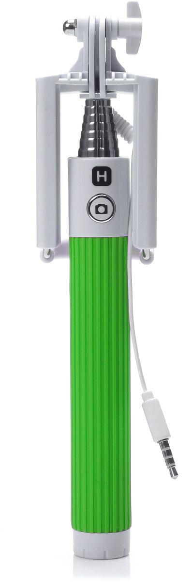 Harper SO-201, Green монопод для селфиH00000545Harper SO-201 - ручной телескопический монопод для проведения фото и видеосъемки с кабелем 3,5 мм. Имеет максимальную длину 90 cм и 7 секций. Длина в сложенном состоянии составляет 20 см. Прочный стальной корпус гарантирует надежность монопода в повседневных условиях.