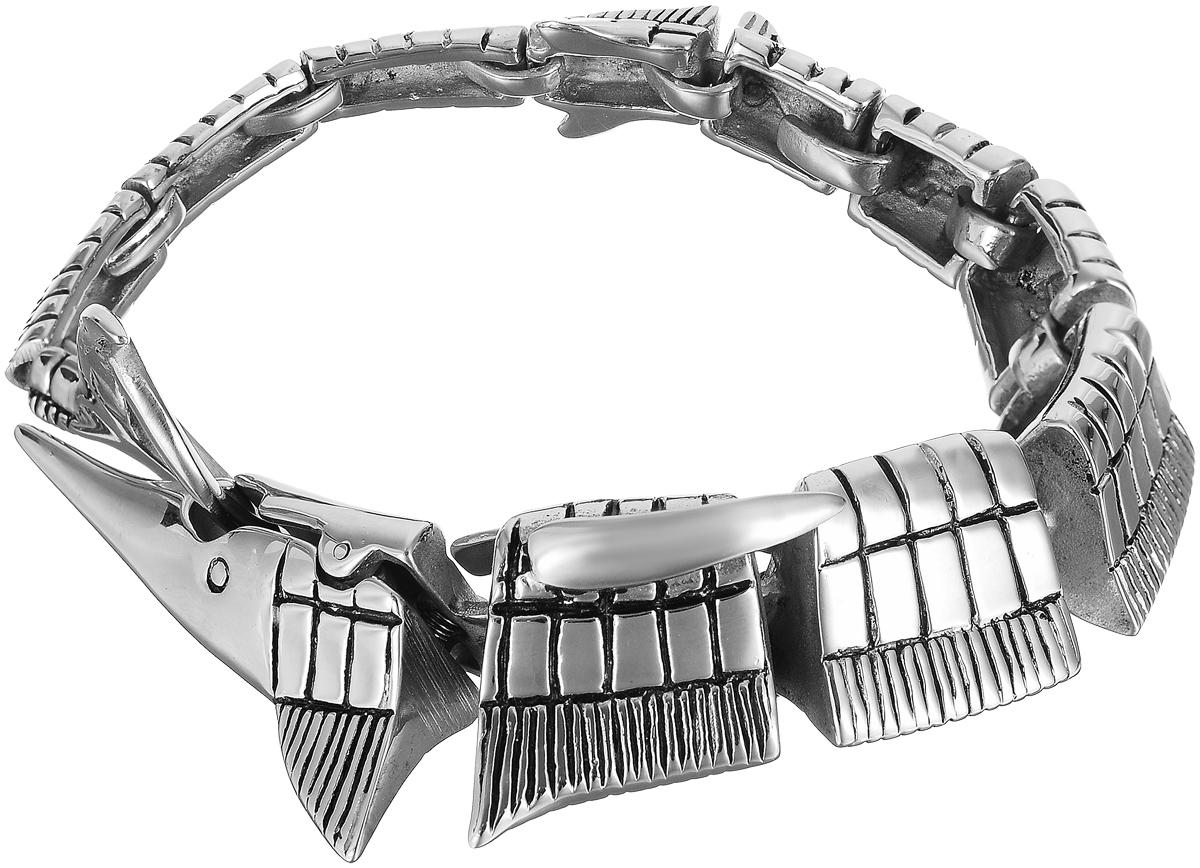 Браслет Art-Silver, цвет: серебряный. 231015-2-1800Глидерный браслетЖенский браслет Art-Silver выполнен из стали. Браслет застегивается при помощи замка-крокодила, благодаря которому браслет легко снимать и надевать. Необычный браслет блестяще подчеркнет ваш изысканный вкус и поможет внести разнообразие в привычный образ.