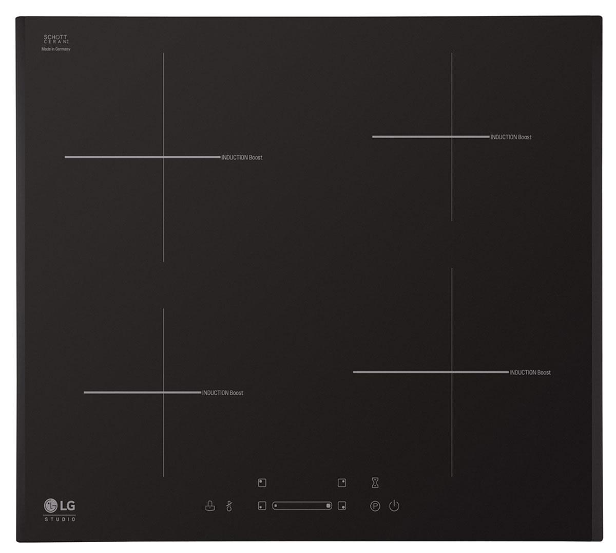 LG KVN6403AF, Black варочная панельLG KVN6403AFLG KVN6403AF - индукционная варочная панель из стеклокерамики с сенсорным управлением.Благодаря простой системе управления и легкой очистке вы сможете насладиться удобством приготовления от начала до конца. Индукционная плита не только сделает дизайн вашей кухни роскошным, но и обеспечит отличный результат приготовления вкусных и полезных блюд.Уровень мощности и все функции регулируются простым прикосновением к электронной сенсорной панели управления на керамической поверхности. Поэтому ей очень легко управлять, а также очищать после использования.Все зоны приготовления могут быть автоматически отключены с помощью встроенного таймера приготовления пищи. Вы можете выбрать время от 1 до 99 минут для каждой индукционной зоны. По истечению времени они автоматически отключатся. Такой таймер позволяет готовить удобно, безопасно и легко.Функция Power Boost позволяет быстрее нагреть все включенные зоны индукционной плиты до определенной температуры, подавая на них большую мощность. Эта функция экономит ваше время на приготовление пищи.Интеллектуальная пауза Stop&Go позволяет снизить мощность нагрева всех работающих зон до минимального уровня, а после ее отключения вернуться к предыдущему уровню нагрева. Если по истечению 30 мин. пауза не будет выключена, варочная панель отключится автоматически.Во время приготовления и по его окончанию вы можете заблокировать панель управления с помощью нажатия и удержания комбинации символов, для того чтобы избежать сбоя настроек во время приготовления или случайного включения панели детьми.Во время приготовления на панели отображается индикатор остаточного тепла, который сообщает, что температура поверхности является опасной для касания. После выключения панели знак отображается до тех пор пока она не остынет и ее можно будет безопасно касаться.Размер и мощность индукционных зон: 2x160 мм - 1400 Вт (Быстрый разогрев - 1800 Вт) / 2x200 мм - 2100 Вт (Быстрый разогрев - 2500 Вт)Таймер приготовле