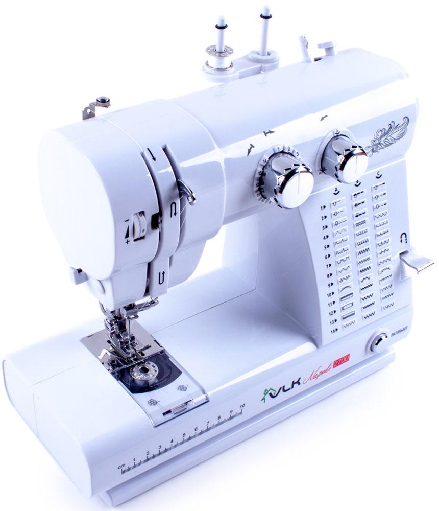 VLK Napoli 2700 швейная машинаVLK Napoli 2700Швейная машина VLK Napoli 2700 относится к электромеханическому типу с горизонтальным челноком. Вы можете работать с тканями любой толщины и различных видов. Одним из важных достоинств модели является наличие 42 программ шитья, которые помогут справиться с рукоделием даже неопытному человеку.Машинка в полуавтоматическом режиме сделает петли на одежде, способна шить в нескольких направлениях, что значительно расширяет ее возможности. Встроенная подсветка позволит работать с прибором даже в темное время суток.
