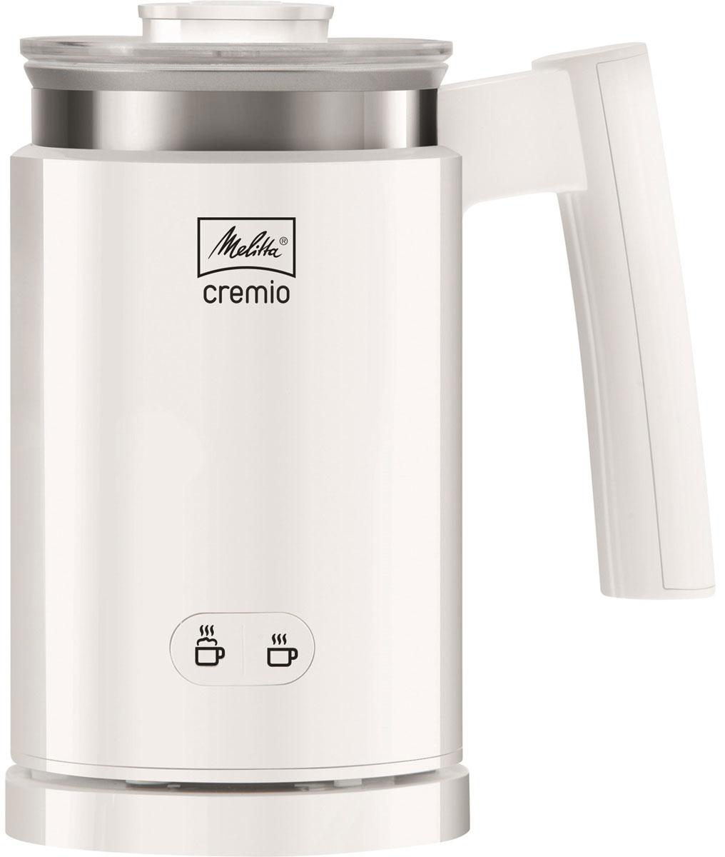 Melitta Cremio II, White капучинатор21562Будь то латте макиато или капучино - при помощи Melitta Cremio II вы можете приготовить замечательную мелкопористую теплую молочную пену для кофейных напитков, такую же, как в вашем любимом итальянском кафе. Так же вспениватель поможет приготовить холодное взбитое молоко, чтобы добавить его к десертам в качестве легкой альтернативы кремам. Поклонники молока и какао также полюбят Cremio II за возможность подогревать молоко в одно мгновение, при этом оно не подгорит.