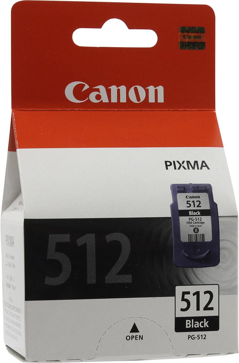 Canon PG-512BK, Black картридж для струйных МФУ/принтеров2969B007Canon PG-512 - оригинальный картридж Canon для струйных МФУ и принтеров.