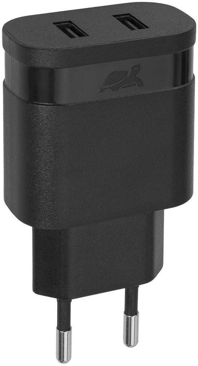 Rivapower VA4122 B00, Black сетевое зарядное устройствоVA4122 B00Универсальное сетевое зарядное устройство Rivapower VA4122 совместимо со всеми устройствами, использующими USB порт для зарядки своих аккумуляторов. Позволяет заряжать 2 устройства одновременно, занимая всего одну розетку. Высококачественные компоненты, встроенные фильтры, защита от скачков напряжения, защита от перегрузки, перегрева и короткого замыкания делают процесс зарядки быстрым, эффективным и безопасным. Корпус сделан из негорючего пластика, устойчивого к механическим повреждениям.Компактные размеры зарядного устройства позволяют свободно пользоваться соседними розетками и делают его очень удобным в поездках.