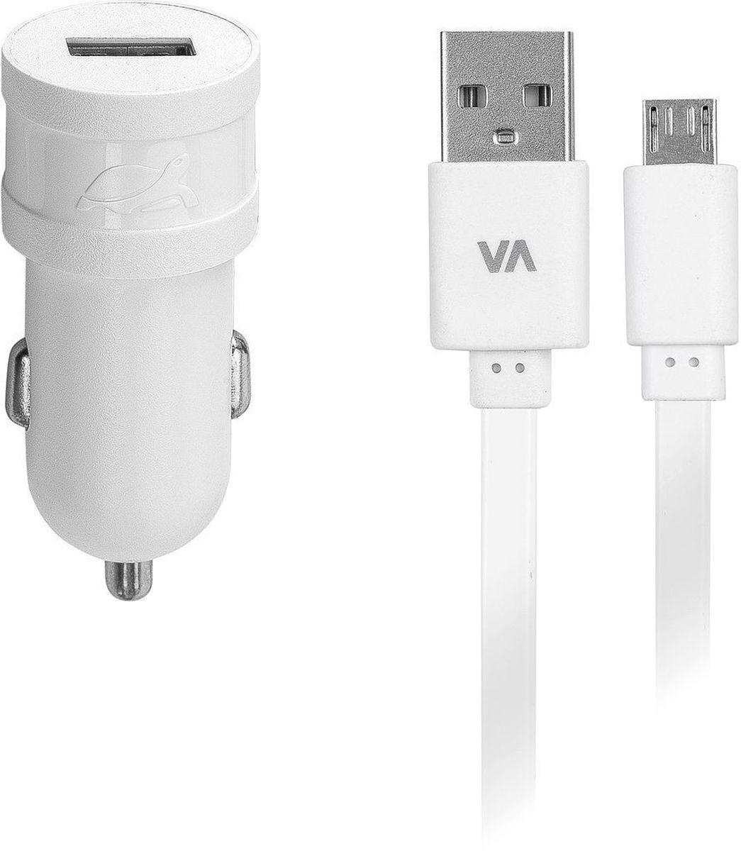 Rivapower VA4211 WD1, White автомобильное зарядное устройствоVA4211 WD1Универсальное автомобильное зарядное устройство Rivapower VA4211 BD1 совместимо со всеми устройствами, использующими USB порт для зарядки своих аккумуляторов. Высококачественные компоненты, встроенные фильтры, защита от скачков напряжения, защита от перегрузки, перегрева и короткого замыкания делают процесс зарядки быстрым, эффективным и безопасным. Корпус сделан из негорючего пластика, устойчивого к механическим повреждениям.Ультра компактные размеры зарядного устройства позволяют использовать его даже в автомобилях с ограниченным пространством вокруг автомобильного разъема электропитания. В комплект входит дата-кабель microUSB длиной 1 метр.
