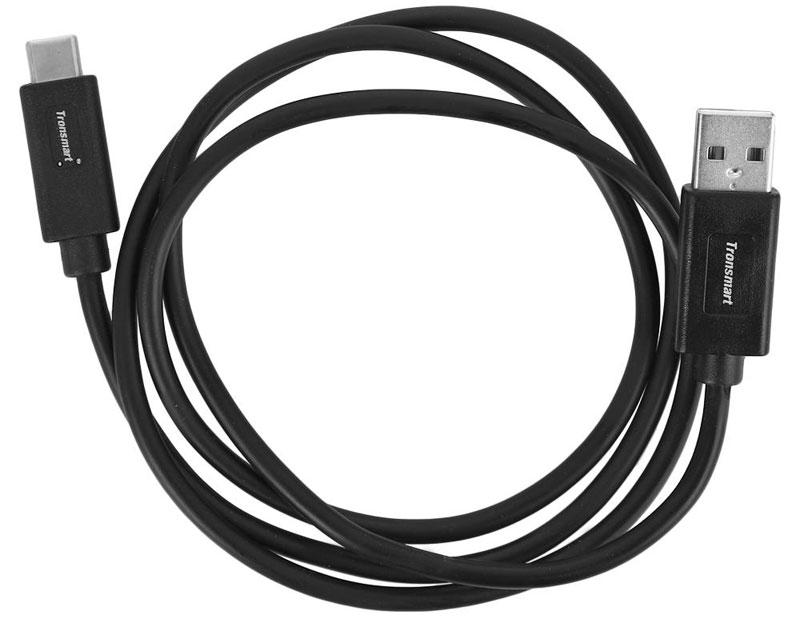 Tronsmart Deren Connector, Black кабель USB-TypeC (1 м)CC04Кабель Tronsmart Deren Connector CC04 предназначен для синхронизации данных или зарядки устройств c интерфейсом подключения USB 3.1 Type C. Главное его преимущество - симметричность, позволяющая подключать провод любой стороной.