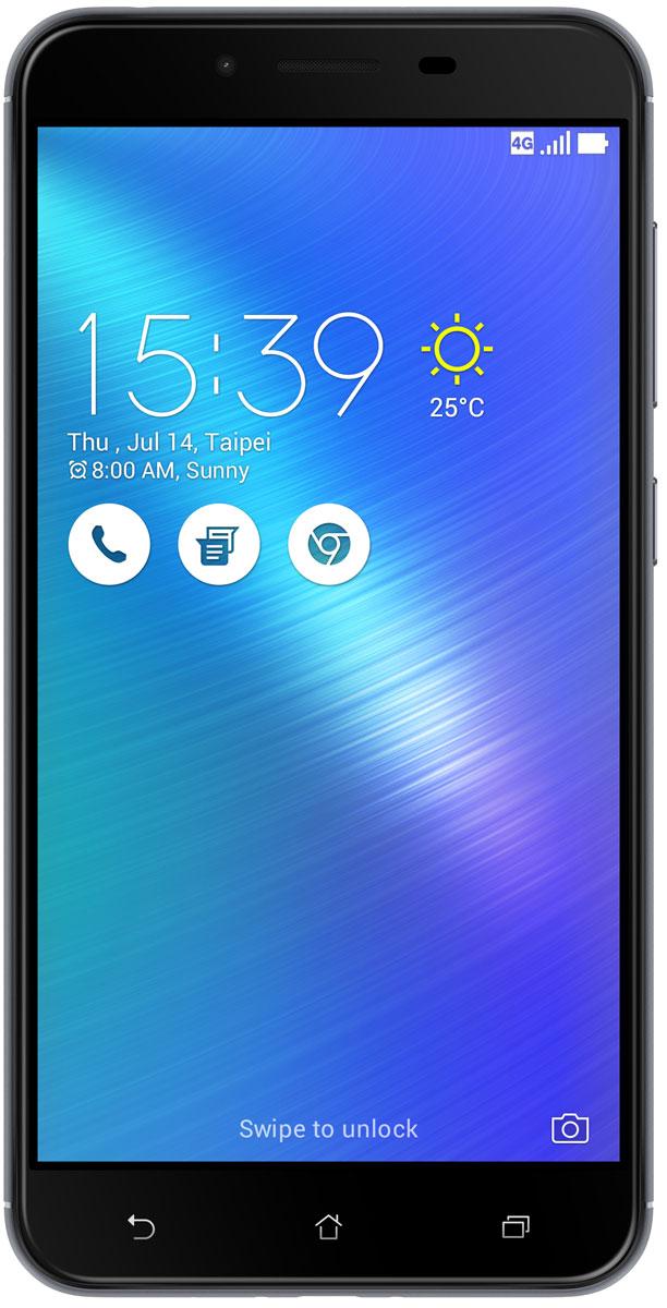 ASUS ZenFone 3 Max ZC553KL, Grey (90AX00D2-M00280)90AX00D2-M00280Вы живете активной жизнью, а ваш смартфон к середине дня уже разряжен? Тогда вам нужен новый ZenFone 3 Max. Аккумулятор емкостью 4100 мАч позволит пользоваться этим смартфоном с раннего утра до поздней ночи. Работайте продуктивнее, и развлекайтесь ярче - ZenFone 3 Max поможет вам жить еще активнее!С новым 5,5-дюймовым ZenFone 3 Max вам больше не придется беспокоиться о том, что смартфон разрядится в самый неподходящий момент, ведь благодаря большой емкости аккумулятора (4100 мАч), ZenFone 3 Max может работать до 33 дней в режиме ожидания. Чем больше емкость аккумулятора, тем больше пользы от смартфона, ведь каждый хочет получить максимум от своего мобильного устройства, не прибегая к подзарядке: пролистать больше веб-сайтов, просмотреть больше видеороликов и пообщаться с большим числом друзей, чем при использовании обычных смартфонов.Емкость аккумулятора ZenFone 3 Max составляет целых 4100 мАч, поэтому вы с легкостью сможете использовать смартфон в качестве мобильного зарядного устройства для других гаджетов.Емкости аккумулятора в современном смартфоне никогда не бывает много. Именно поэтому инженеры компании ASUS разработали две специальных энергосберегающих технологии, позволяющие продлить время автономной работы ZenFone 3 Max. Даже если уровень заряда аккумулятора упадет до 10%, вы сможете увеличить время работы смартфона в режиме ожидания на дополнительные 30 часов, просто активировав функцию суперэкономии.ZenFone 3 Max сочетает в себе все самое лучшее: дисплей, покрытый защитным стеклом с закругленными краями, эргономичный корпус с изогнутой задней панелью, стильные цвета. Это шедевр современного дизайна и инновационных технологий, который не захочется выпускать из рук.Расположенный на задней панели сканер отпечатка пальца служит не только для моментальной разблокировки смартфона, но и поддерживает несколько других полезных функций. Например, проведя по нему сверху вниз, вы активируете фронтальную