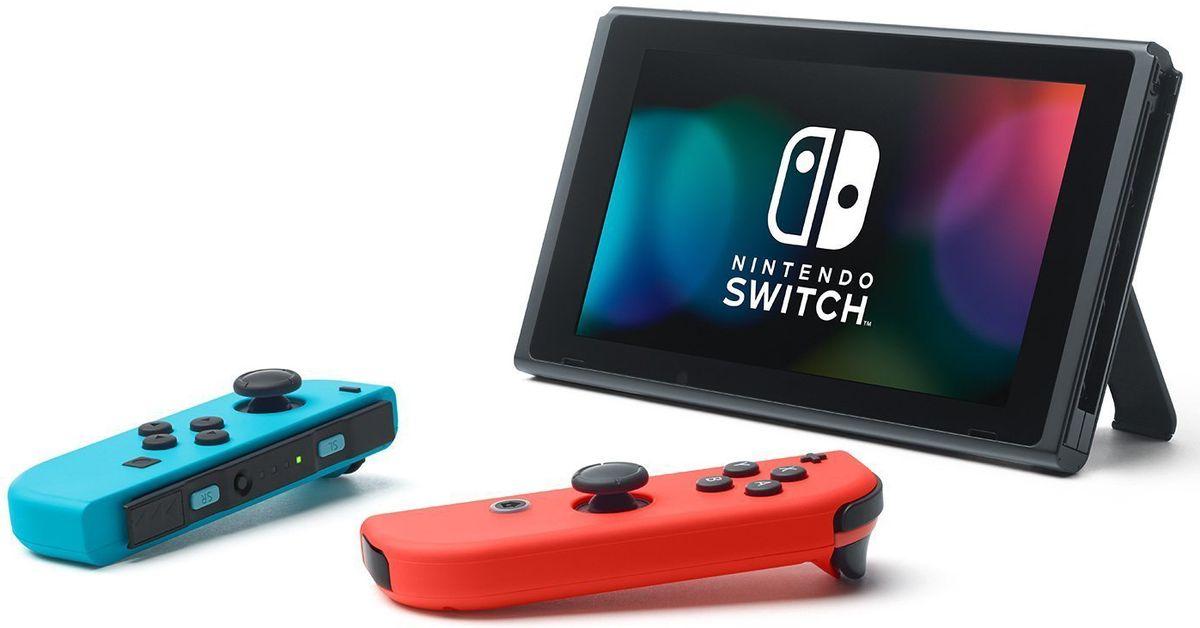 Игровая консоль Nintendo Switch ConSWT2, Red Blue Neon - Игровые консоли