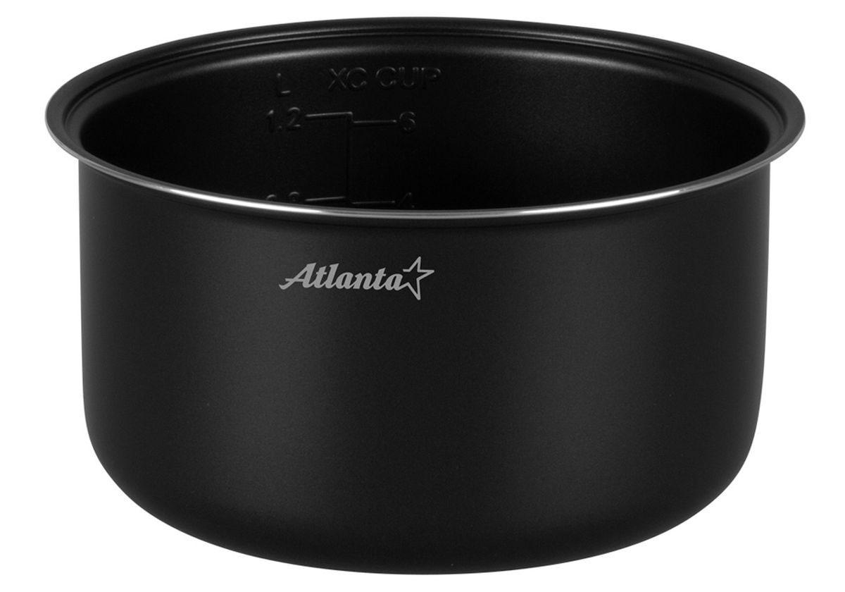 Atlanta SP-594 чаша для мультиварки77.858@22006Atlanta SP-594 - дополнительная чаша для мультиварки объемом 3 л, которая позволяет приготовить различные блюда без добавления масла или жира. Чаша имеет прочные стенки и двухслойное антипригарное покрытие, которое не окисляется, не сдержит вредные примеси и равномерно распределят тепло. Она выдерживает высокие температуры без ущерба для своих технических и качественных характеристик. Для вашего удобства внутри чаши предусмотрена мерная шкала.