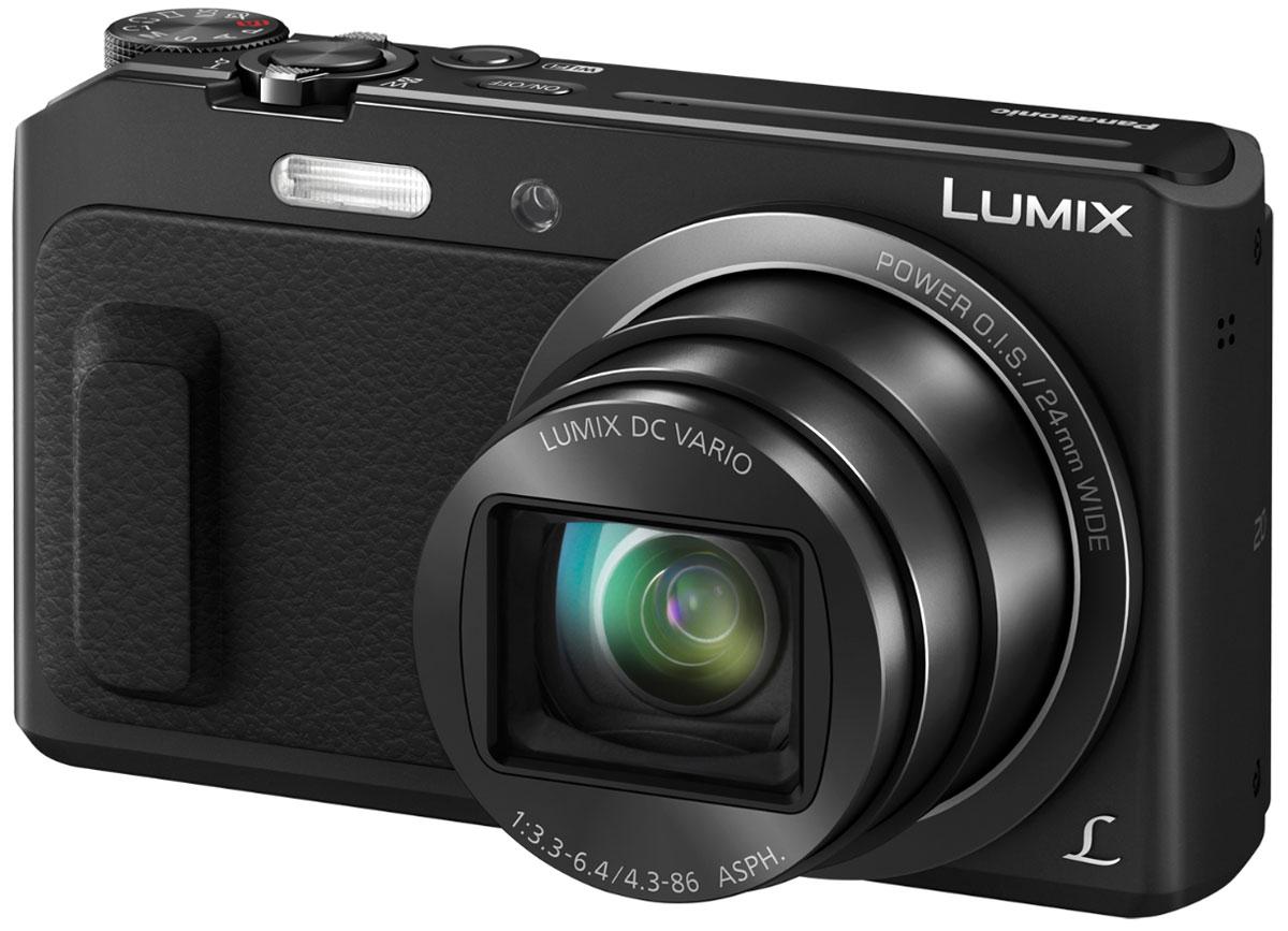 Panasonic Lumix DMC-TZ57, Black цифровая фотокамераDMC-TZ57EE-KPanasonic Lumix DMC-TZ57- компактная камера с двадцатикратным суперзумом, поворачивающимся дисплеем и записью видео в формате FullHD. Запечатлейте памятные момен в путешествиях с функцией селфи и делитесь ими при помощи Wi-Fi подключения.Поверните дисплей вверх на,180° и наступит время сепфи. Затем, чтобы сделать фотографию в более свободной и менее стесненной позе, просто подмигните фотоаппарату. В комбинации с режимами Мягкой кожи, Коррекции фигуры и Расфокусировки ваши селфи получатся привлекательнее и оригинальнее.Интегрированный в камеру высокочувствительный 16 Мпикс МOS-сенсор может похвастаться высокоскоростной передачей данных и высокочувствительной записью изображений, что наделяет аппарат массой дополнительных функций. Идеальное соотношение сигнал/шум MOS-сенсора и система подавления шума в движке обработки изображений дарит непревзойденную четкость фотографиям и видео, снятым при любой чувствительности.Вкупе с разнообразием фильтров, режим Творческий контроль позволяет вам привносить художественные и оригинальные добавления в фотографии и видеозаписи. Творческая панорама позволяет создавать динамические вертикальные и горизонтальные панорамные фотографии, просто поворачивая камеру.Эффекты фильтров: выразительный, ретро, старые времена, высокий ключ, низкий ключ, сепия, динамический монохромный, выразительное искусство, высокодинамичный, кросспроцесс, игрушечный эффект, эффект миниатюры, мягкий фокус, звездный фильтр, один оттенок.