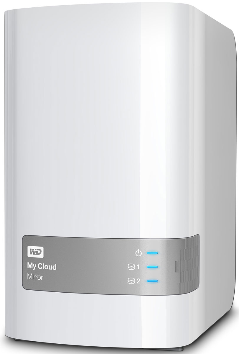 WD My Cloud Mirror 8TB сетевое хранилище (WDBWVZ0080JWT-EESN)