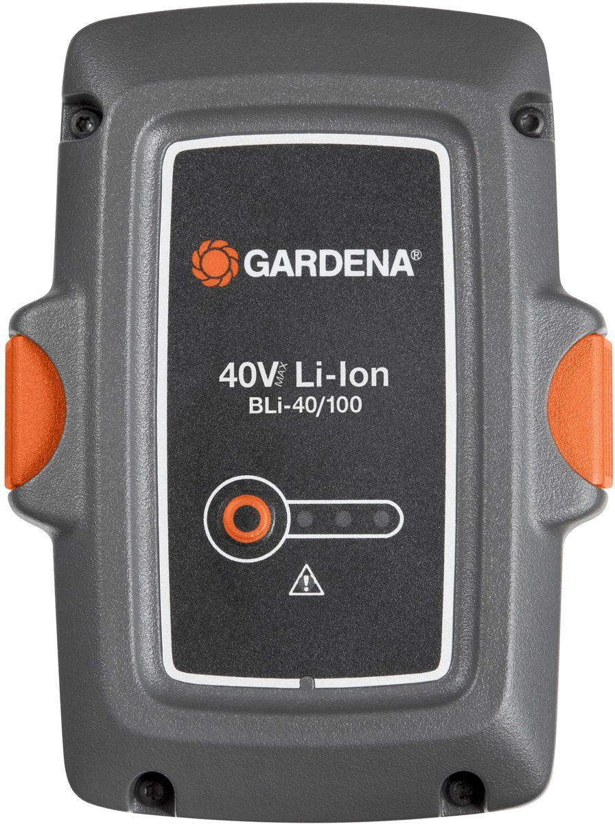 Аккумулятор Gardena BLi-40/100, литий-ионный09842-20.000.00Мощная литий-йонная аккумуляторная батарея, экологически безопасная, для аккамуляторных газонокосилок.