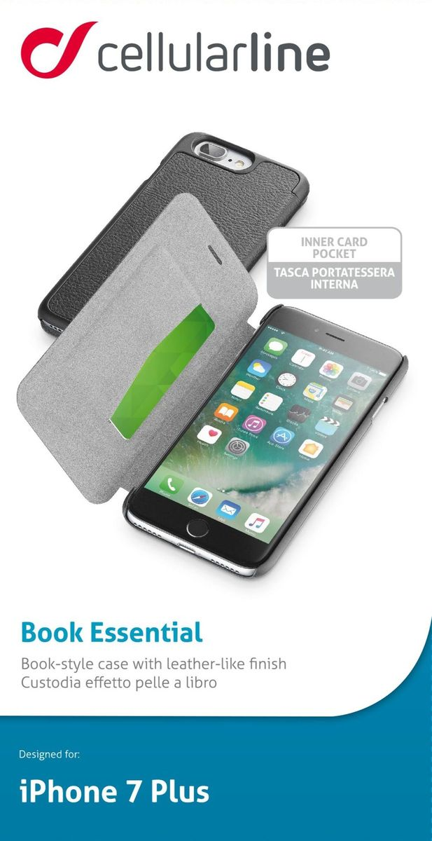 Cellular Line Book чехол для iPhone 7 Plus, Black - Чехлы