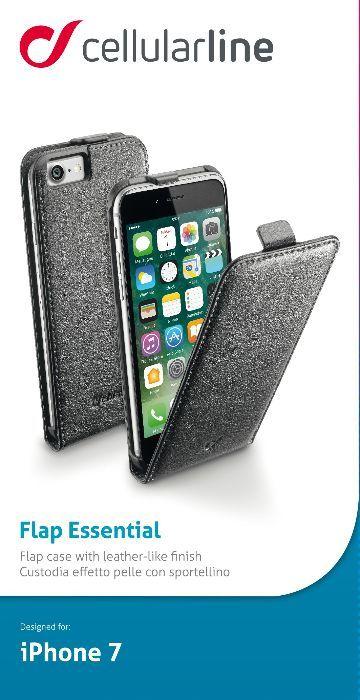 Cellular Line Flap чехол для iPhone 7, Black cellular line spvanityiphone5