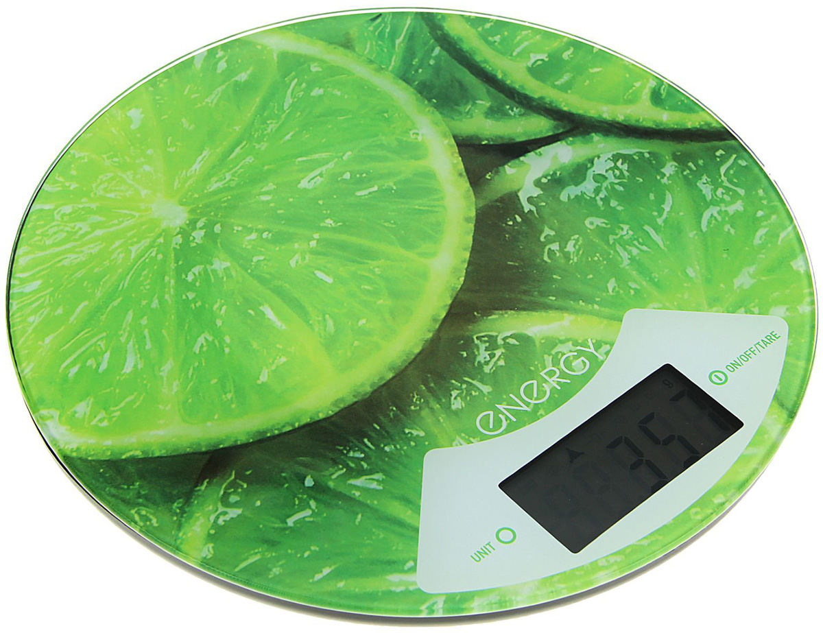 Energy EN-403, Lime кухонные весы54 011643Правильное соотношение ингредиентов — залог успеха при приготовлении блюда. Весы Energy EN-403 точно измерят массу каждого продукта. Платформа выполнена из прочных материалов, которые легко очищаются от загрязнений. Благодаря оригинальному дизайну данная модель станет стильным аксессуаром для любой кухни.