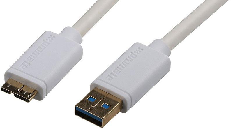 Promate linkMate-U4, White кабель USB8161815121204_белыйPromate linkMate-U4 - это кабель премиум класса с переходником USB Тип А на USB Micro-B для подключения жестких дисков и других периферийных USB устройств и сверхбыстрой передачи данных. Изготовлен из flexShield ПВХ с медным напылением, а USB 3.0 обеспечивает передачу данных до 5Гбит/с. Доступна поддержка горячего подключения. Длина кабеля 1,5 метра.