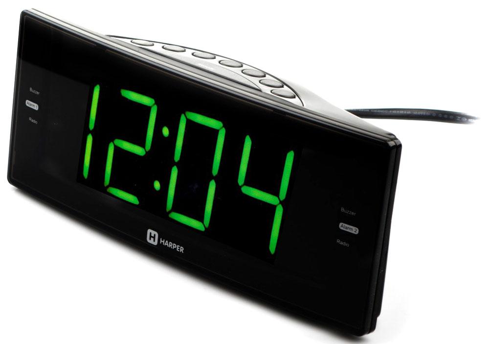 Harper HCLK-2044 радиобудильникH00001163Harper HCLK-2044 – это стильные цифровые часы со светодиодной индикацией зеленого цвета. Вместе с тем – это еще и радиоприемник, принимающий сигнал в двух диапазонах (AM и FM), а также будильник, в качестве сигнала на котором можно выставить не только стандартную встроенную мелодию, но и эфир любимой радиостанции.С Harper HCLK-2044 вы сможете просыпаться с комфортом под бодрящую музыку или радиопередачу.Если одного будильника вам недостаточно – Harper HCLK-2044 позволяет настроить сразу два независимых.Устройство запоминает до 20 каналов (по 10 для каждого диапазона). Поиск можно выполнять как автоматически, так и вручную.Питается Harper HCLK-2044 от сети переменного тока 220 В. Дополнительно можно установить две батареи формата AAA (UM4). С ними настройки сохранятся даже после отключения сетевого электричества, и вам не придется заново настраивать свой будильник.С Harper HCLK-2044 можно засыпать под эфир любимой радиостанции. Чтобы не проснуться позже от звуков радио – можно выставить таймер автоотключения.