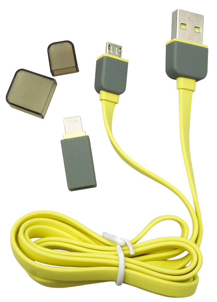 Harper CCH-517 Yellow, кабель USB-microUSB/Lightning автомобильное зарядное устройство olto cch 2105 harper o00000563 1a usb 8 pin lightning белый