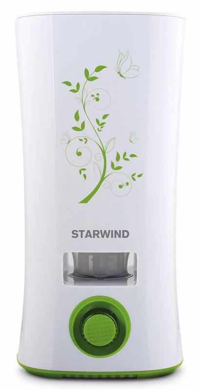 Starwind SHC4210, White Green увлажнитель воздухаSHC4210Starwind SHC4210 - это ультразвуковой тип увлажнителя, распыляющий воздух без его нагревания. Кроме того, он еще и ароматизирует воздух, освежая его и делая приятно пахнущим. Ароматические масла, которые вы можете использовать в устройстве, способны не только освежить воздух, но и обогатить полезными веществами.Starwind SHC4210 работает при мощности 28 Втиимеет объемный резервуар 2 л. При необходимости, вы можете регулировать испарение воздуха, уменьшая или увеличивая его испарение. Если вода будет подходить к концу, удобный встроенный индикатор сообщит вам об этом. Но вы можете не беспокоиться, что пропустите оповещение, ведь для максимальной безопасности устройства и экономии электроэнергии, при полном окончании воды устройство просто автоматически отключится.