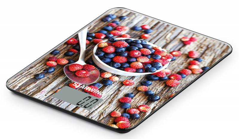 Starwind SSK3354, Brown Red Blue весы кухонные