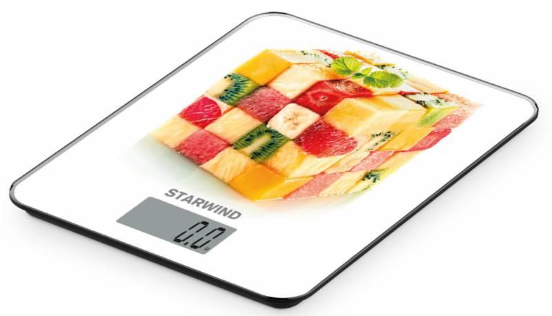 Starwind SSK3359, White Yellow весы кухонные